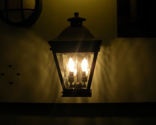 483623_384799944938839_483379066_n.jpg - Traditional outdoor wall sconce, on display in our Southampton, NY showroom.