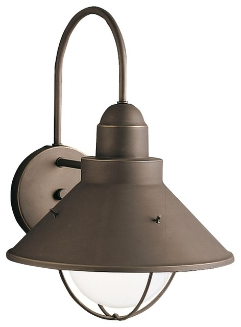 seaside 14 1 2 high outdoor wall light traditional outdoor lighting