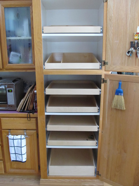 slide out pantry shelves portland by shelfgenie of. Black Bedroom Furniture Sets. Home Design Ideas