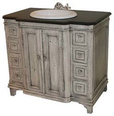 Awesome French Provincial Cabinet Converted To Bathroom Vanity  Bathroom