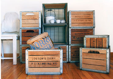 Dairy Crates traditional-storage-boxes