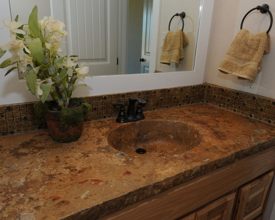 Concrete Integrated Bowl Sink and Countertop by Red Baron Architectural - Red Baron Architectural has come up with a very innovative new process to construct sinks, tiles, and countertops out of concrete.