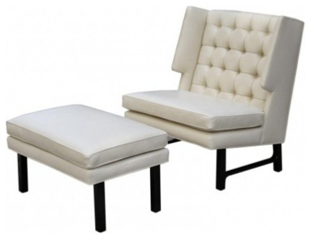 Dunbar Lounge Chair and Ottoman transitional-armchairs-and-accent-chairs