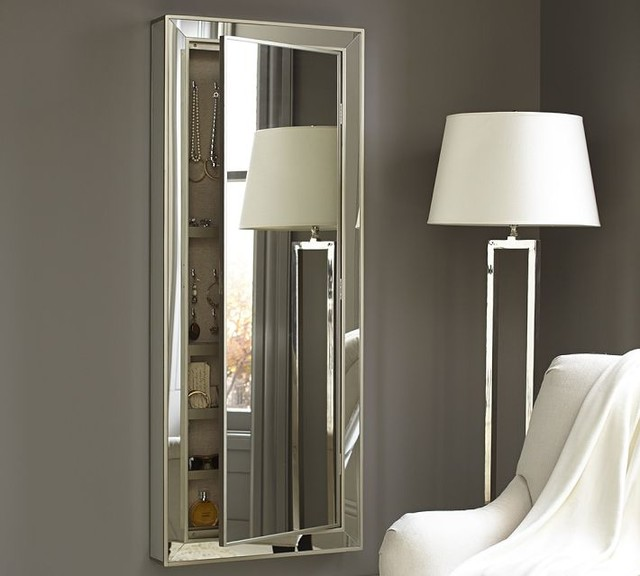 silver floor mirror armoire