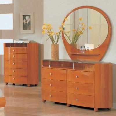 Emily 6 Drawer Dresser - Cherry modern-dressers