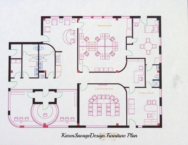 Radio Station Design Concept - Modern - Floor Plan - other metro - by Karen Savage Design