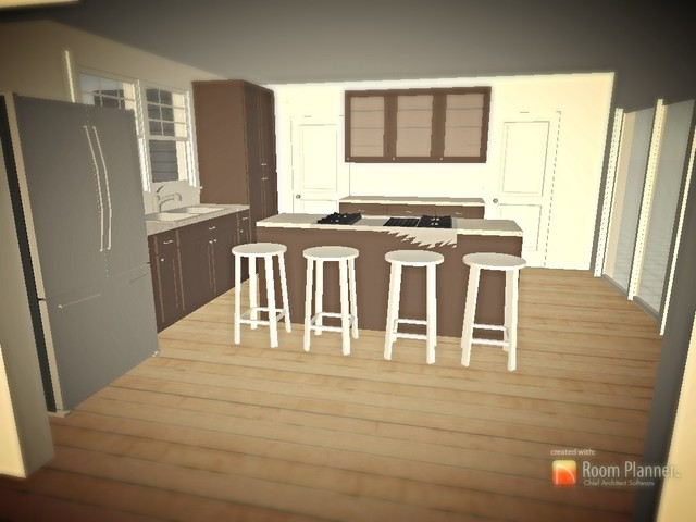 Mock up kitchen done on 3d room planner software ipad for 3d room planner ipad