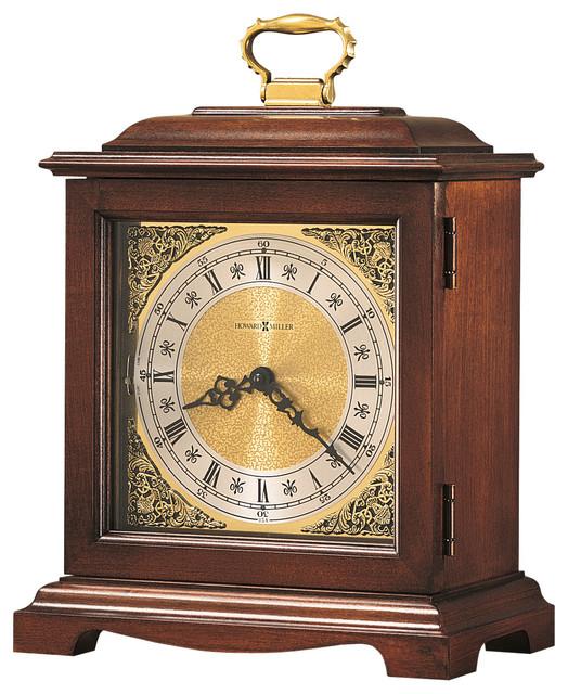 Howard Miller Dual Chime Vintage Mantel Clock |  GRAHAM BRACKET III traditional-desk-and-mantel-clocks