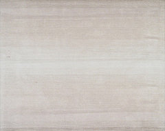 Hand-Tufted Manhattan Ombré Taupe Wool Rug contemporary-rugs