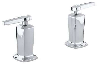 KOHLER K-T16248-4-CP Margaux Bath- or Deck-Mount Bath Valve Trim with Lever Hand traditional-bathroom-faucets