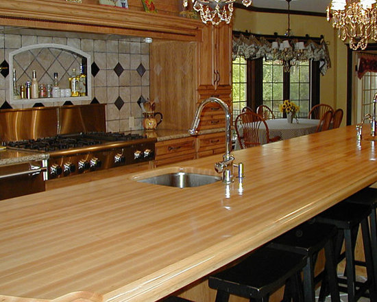 Maple Wood Kitchen Island Countertop with Bar and Sink.jpg -