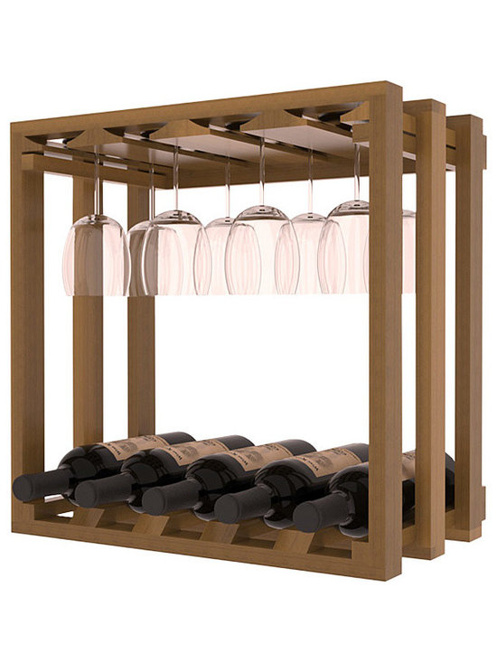 Wine Racks America - Wine Storage Stacking Stemware Cube in Redwood, Oak Stain + Satin Finish - Designed to stack one on top of the other for space-saving wine storage our stacking cubes are ideal for an expanding collection. Use as a stand alone rack in your kitchen or living space or pair with the 20 Bottle X-Cube Wine Rack and/or the 16-Bottle Cubicle Rack for flexible storage. Choose From optional Industry Leading Quality Eco-Friendly Stains Paired with an Immaculate Satin Finish. Each have custom finishes and are professionally stained to order, so please allow 2-3 weeks after your purchase for your order to be shipped. Store up to 5 Bottles of Wine Plus 8 wine glasses!