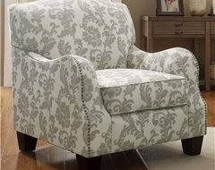 Need Help on choosing patterns to match Damask Gray/Ivory chair. - Houzz