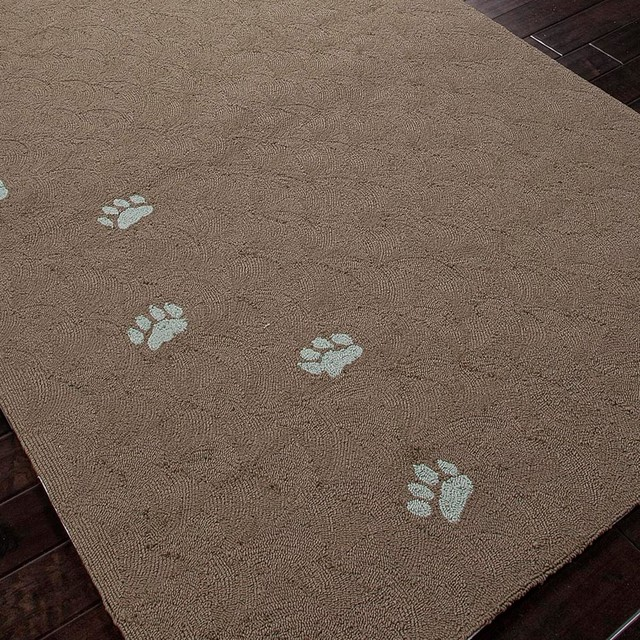Dog Friendly Outdoor Rug: Whimsical Dog Paws Outdoor Rug