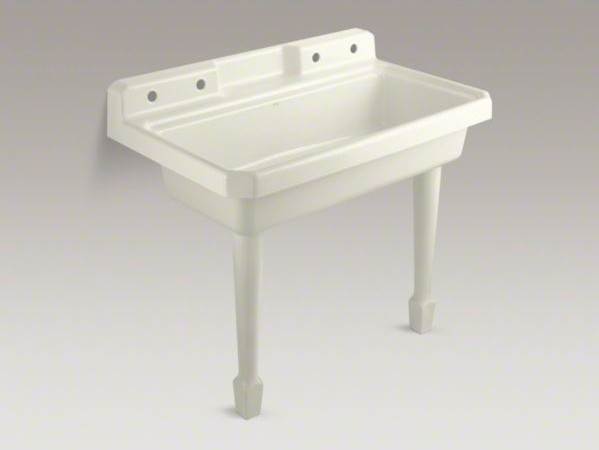 Utility Sink Bathroom : ... utility sink with 2 faucet holes o - Contemporary - Utility Sinks - by