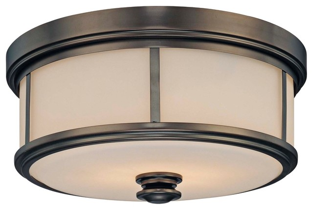 Arts and Crafts - Mission Minka Lavery Harvard Court Flush Mount Ceiling Light modern-ceiling-lighting