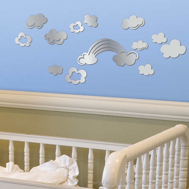 Mirrored Cloud Wall Decals decals