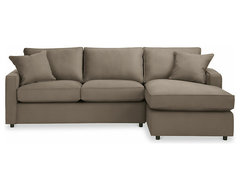 York Air Coil Sleeper with Right-Arm Chaise 105 modern sofa beds