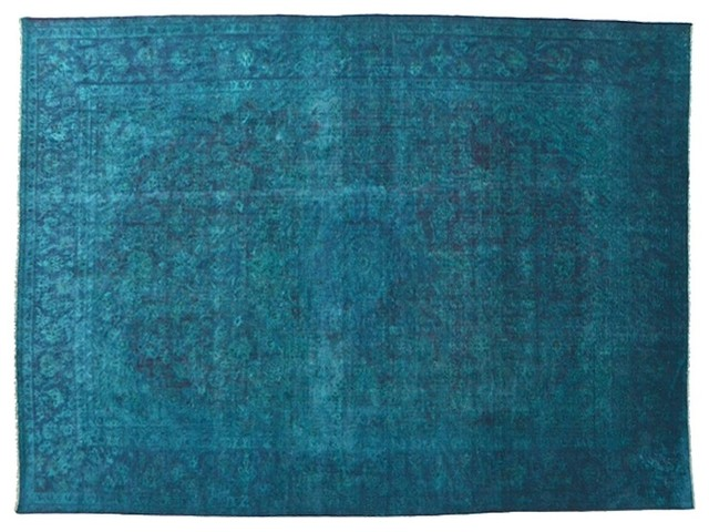 Hand Knotted Rug Semi Antique Persian Overdyed Oriental Rug Sh5187 modern-rugs