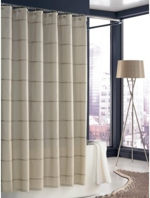 Kassatex Trump Mar-A-Lago Stripe Shower Curtain Ivory modern shower curtains