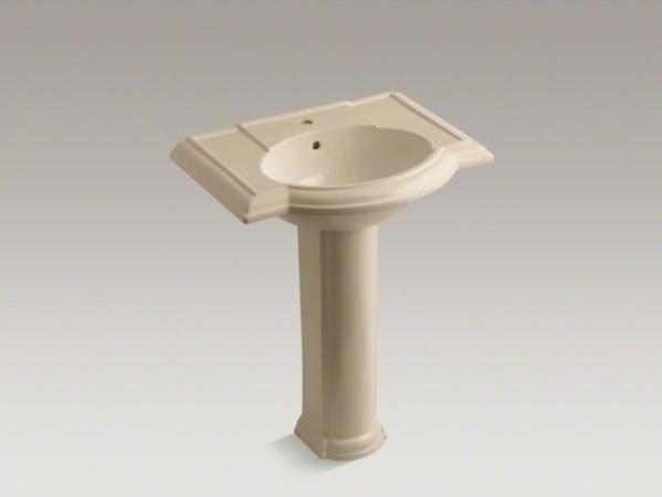"KOHLER Devonshire(R) 27"" pedestal bathroom sink with single faucet hole contemporary-bathroom-sinks"
