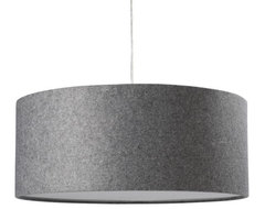 Short Drum Pendant, Gray Felt modern pendant lighting