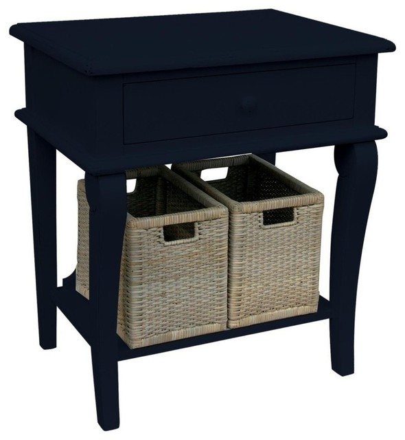 New Trade Winds Side Table Black Painted traditional-side-tables-and-end-tables