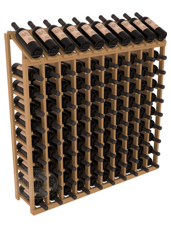Wine Racks America - 100 Bottle Display Top Wine Rack, Oak Stain + Satin Finish - Make your top 10 vintages focal points of your cellar or store. Our wine cellar kits are constructed to industry-leading standards. You'll be satisfied. We guarantee it. Display top wine racks offer ample storage below a presentation row. Great as a stand alone unit or paired with other modular racks from our product lineup.