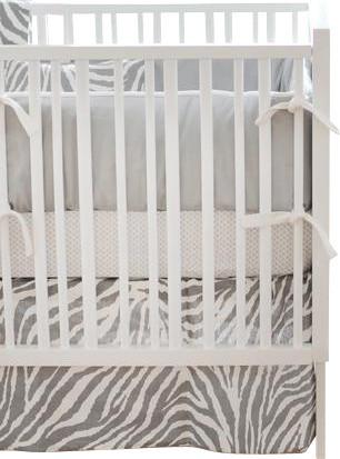 Safari in Gray Baby Crib Bedding Set 2-Piece contemporary-cribs
