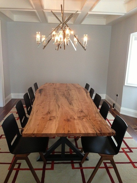 Reclaimed Maple Live Edge Dining Table Top contemporary-dining-tables