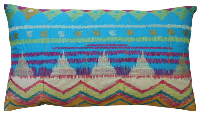 "Java Bright Pillow, 15"" x 27"" contemporary-decorative-pillows"