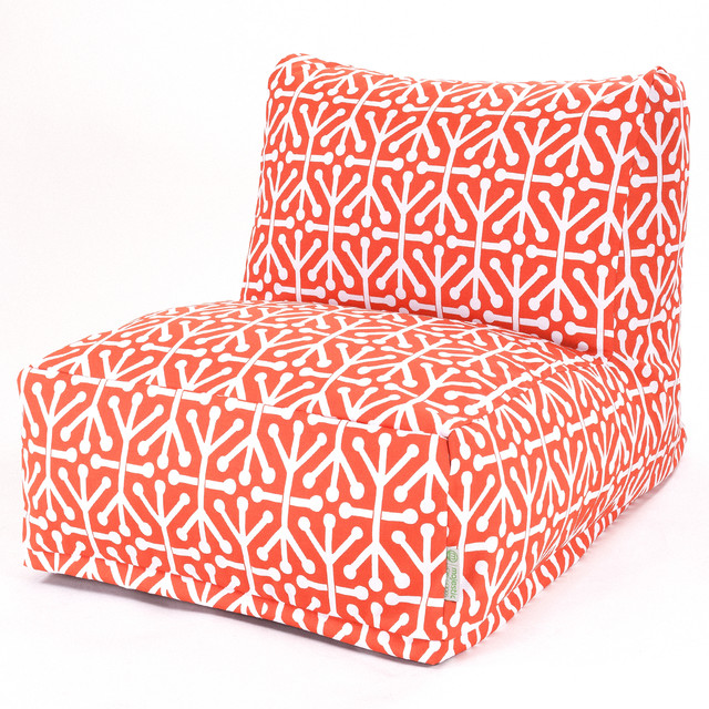 Outdoor Orange Aruba Beanbag Chair Contemporary Bean Bag Chairs by Maje
