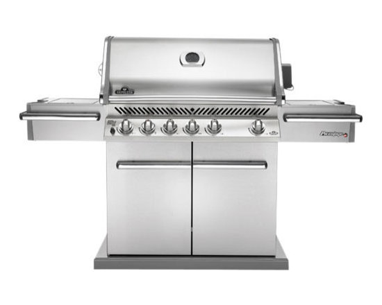 Napoleon - Napoleon PRO600RSIB - The new Napoleon Prestige PRO600 Series is the pinnacle of masterful design and engineered performance. Featuring a linear pedestal design and stunning chrome accents this new grill will be the talk of every backyard barbecue. Extra deep side-shelves makes it easy to have all of your sauces and rubs right on-hand so you are barbecuing like a PRO in no time!