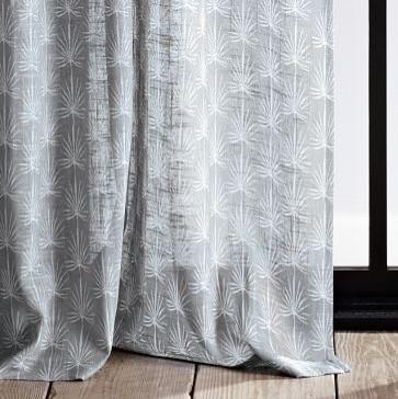 Allegra Hicks Palm Print Window Panel contemporary-curtains