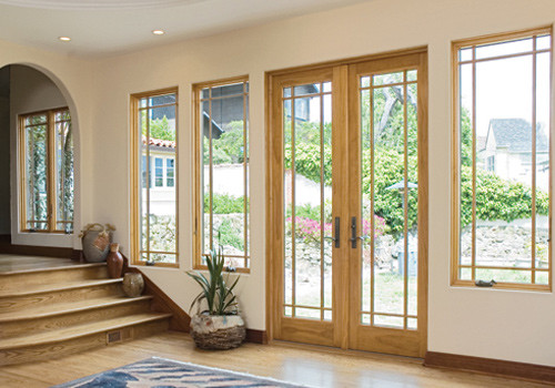 Hinged french patio doors windows by renewal by for Andersen exterior french doors