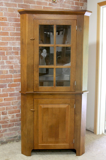 Reclaimed Wood Corner Cabinet - Farmhouse - Storage Cabinets - boston - by LakeandMountainHome