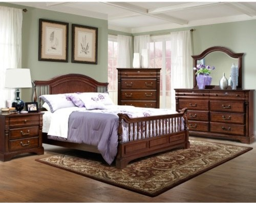 Kathy Ireland HOME Washington Manor Panel Bed modern beds
