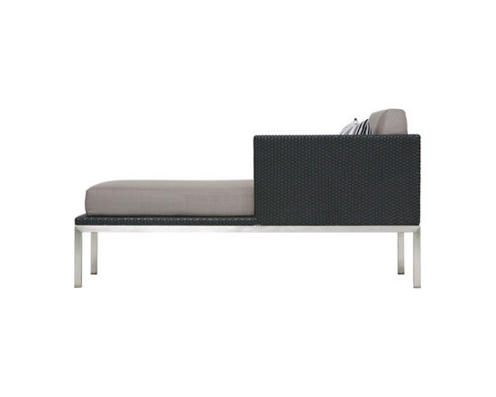 BOGARD Chaise Lounge (Fiber) - This chaise has a nice cocoon to sit in with its raised back and side. Comfy and great looking.