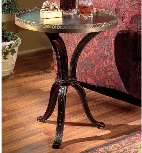Butler Accent Table - Distinctive hand-painted traditional side tables and accent tables
