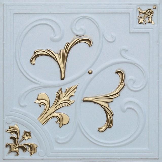 204 Faux Tin Ceiling Tile Glue up 24x24 ceiling-tile