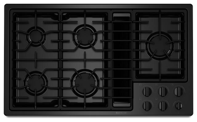 "Jenn-Air 36"" Gas Downdraft Cooktop, Black On Black | JGD3536WB cooktops"