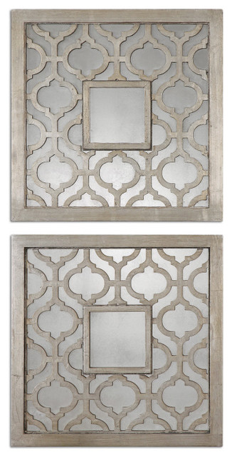 Quatrefoil Mirrors Set of Two contemporary-mirrors
