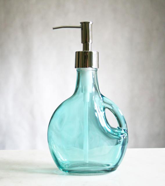 Glass Soap Dispensers Bath Accessories Beach Style Soap Lotion Di