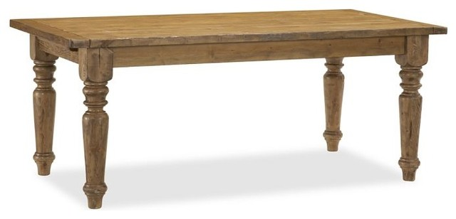 Sumner Extending Dining Table, Rustic Pine - traditional - dining