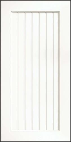 Square Recessed Panel, Thermofoil, White contemporary-kitchen-cabinets