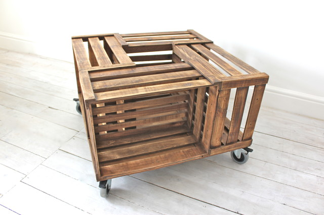 Industrial urban furniture and accessories contemporary for Apple crate furniture