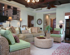 Design Project - Mountain Forest River Bend - Shanghai China - Green Antiques asian-family-room