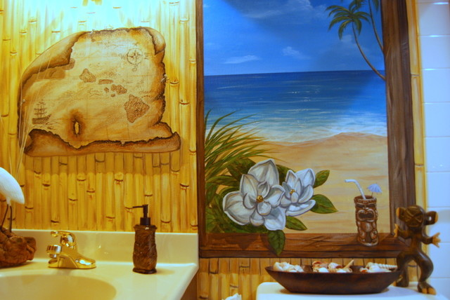 Hawaiian Beach Themed Mural By Tom Taylor Of Wow Effects