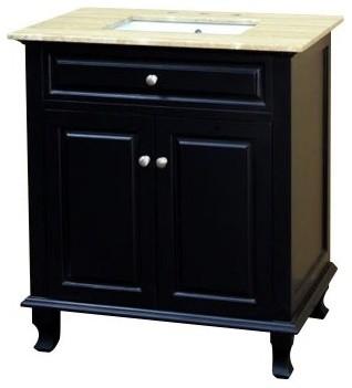 Bellaterra Home Olost 32-in. Single Bathroom Vanity with Optional Backsplash modern-bathroom-vanities-and-sink-consoles