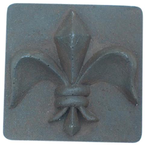 Fleur De Lis Rust Iron Deco 4x4 Tile Modern Tile By